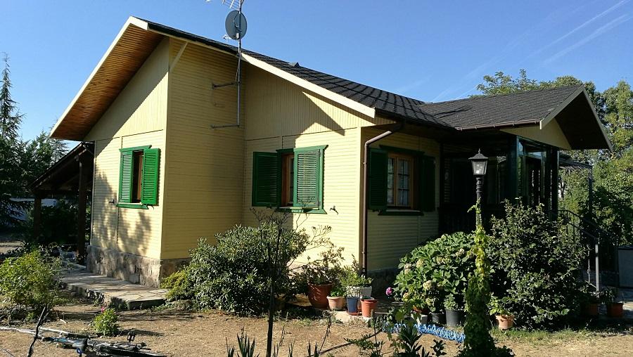 Casa de madera en guadarrama después de aplicar Gaina