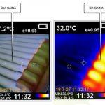 Diferencia Térmica en Cubierta de Fibrocemento con Gaina